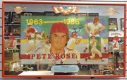 1980and039s Seagramand039s Pete Rose Large Bar Mirror Autographed Signed Reds