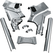 Kuryakyn Deluxe Chrome Neck Frame Covers Accent Trim Harley Touring 2009-2013