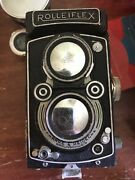 Rolleiflex 3.5 Case Lenses Factory Handle Many Extras And Paperwork Rare Germany