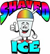 Shaved Ice Vinyl Decal 24 Shave Concession Ice Cream Food Truck Cart
