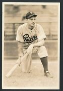 1937 Del Young Phillies Vintage Baseball Photo By George Burke