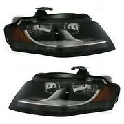 Headlight Set For 2009-2011 Audi A4 Quattro A4 Left And Right Side W/ Bulb
