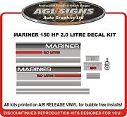 1995 Mercury Mariner 150 Hp 2.0 Litre Reproduction Outboard Decals 135 175 200