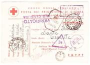 Italian P.o.w.-red Cross Postcard-into British India-clement Town-