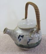 Art Pottery TEAPOT or SAKE POT Stoneware, Lid is a Cup/Pitcher