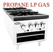 Double Cast Iron 4-burner Stock Pot Lower Great For Food Trucks Nsf Propane Gas
