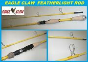 Eagle Claw Featherlight 7and039-6 Fiberglass Spinning Rod Fl209-76 Free Usa Ship