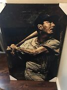 Stephen Holland Ted Williams Signed Boston Red Sox Le 42/99 Canvas Giclee