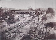 1900s Cabinet Photo Johnstown Pa Flood Railroad Train Roundhouse And Clean Up