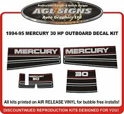 1994 1995 Mercury 30 Hp Decal Kit Reproductions Also 40 Hp