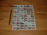 1964 Topps Hot Rods Uncut Sheets 2 Complete Set From Norm Saunders Estate