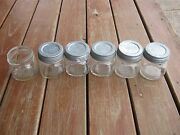 6 Pcs Used Clear Ball Kerr Pint Fruit Jars Wide Mouth