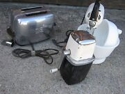 Vintage Small Kitchen Appliance Ge Toaster Maxwell Mixer Swing-a-way Decor Only