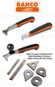 Bahco Tct Pocket Wood/paint/metal Cabinet Hand Scraper Or Replacement Blade