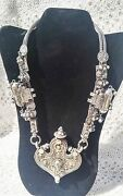 Early 19th Century Tibetan Prayer Sterling Silver Necklace Priest Temple Piece