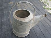 Flower Can Vintage Used Galvanized Metal Beat Up Water Can Sprinkler Can Garden