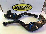 Pazzo Levers For Kawasaki Zx14r 2006 - 2018 Concours 14 2007 - 2018 Zx14c Blk/bl