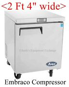 27 Under Counter Freezer On Wheels Casters Nice For Food Trucks Nsf 115 Volts
