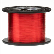 30 Awg Gauge Heavy Copper Magnet Wire 5.0 Lbs 15660and039 Length 0.0117 155c Red