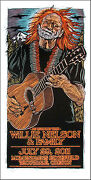 Willie Nelson And Family Poster 2011 Original Signed Silkscreen By Gary Houst