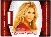 2012 Benchwarmer Soccer Hair Cut Auto Brande Roderick 1/1 Of One Red Autograph