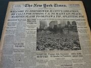 1945 June 20 New York Times - Welcome To Eisenhower Is City's Greatest - Nt 5892