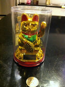 8japanese Waving Lucky Cat -solar Powered Batteries Not Required