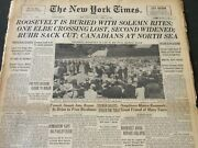 1945 April 16 New York Times - Roosevelt Is Buried With Solemn Rites - Nt 6001