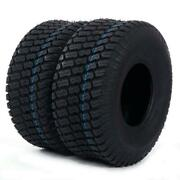570 Lbs Tires Tubeless 15x6.00-6 Turf Tires Lawn Mower Tractor 4 Ply 2pcs