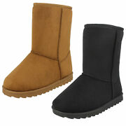 Wholesale Girls Fleece Lined Boots / Sizes 10x2 / 14 Pairs / H4141