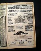 Best Animal House Movie Opening Day Poster Size Ad 1978 Los Angeles Ca Newspaper
