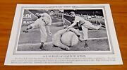 Carl Hubbell Baseball 1936 Original Illustrated Current News 19x12 Great Condit