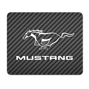 Ford Mustang Pony Black Carbon Fiber Texture Graphic Pc Mouse Pad