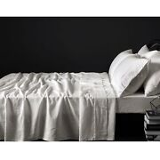 4 Pce 100 Pure Linen Taupe Sheet Set By Vintage Design Homewares - Queen King