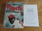 Rare Boston Red Sox Legend Luis Tiant Signed El Tiante Book Bb Very Good To Me