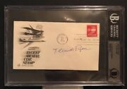 T. Claude Ryan Signed Cover Bas Authenticated Aviation Pioneer Airline
