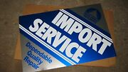 Vintage Signs Metal Tin Advertising Beck/arnley Import Parts New Mint
