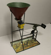 Wolverine Automatic Sand Crane Antique Tin Toy With Wonderful Graphics Andndash 1916