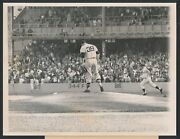 1961 Roger Maris Rounds Bases After 61st Home Run Vintage Baseball Photo