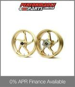 Galespeed Gp1s Curved 5 Spoke Gold Forged Alloy Wheels Bmw S1000rr 2013