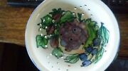monicats canada hand painted berry bowl/colander