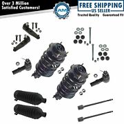 12 Piece Steering Suspension Kit Rack Boot Ball Joint Sway Link Tie Rod For Ford