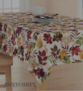 The Big One Fall Maple Leaf Leaves Thanksgiving 60x102 Oblong Tablecloth Nip