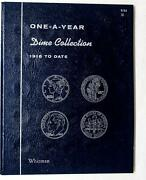 One-a-year Dime Collection 1916 To Date Blue Whitman Folder 9103 New