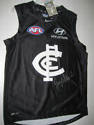 Carlton- Greg Williams Signed Home Jersey Unframed + Photo Proof + C.o.a