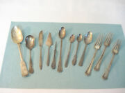 Antique Silverplate Silverware Mixed Lot 12 Pcs Bride Oneida Rogers And Bro Plus