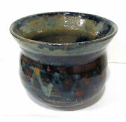 Great Vintage Cramer Studio Art Pottery Stoneware Pot 1975