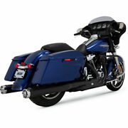 Vance And Hines 46780 Monster Round Slip-ons Black For Harley-davidson Touring M8