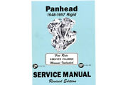 Factory Service Manual For 1948-1957 Panhead And Rigid For Harley-davidson