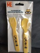 Despicable Me Kids Flatware Set With Fork And Spoon - Brand New In Package